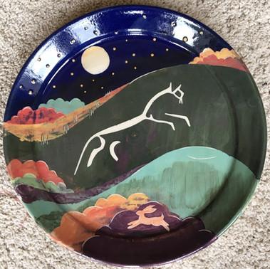 Uffington White Horse Platter