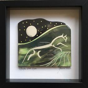 Uffington White Horse framed tile