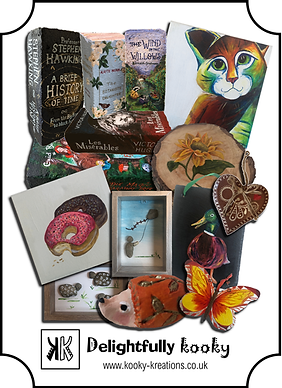 Kooky Kreations is defined by fun, quirky and colour.  Hand-painted and hand-crafted original artworks for the home & garden, making great gifts.