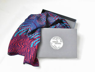 I create hand-designed luxurious silk scarves inspired by my south asian roots. Ideal for colour lovers who are not afraid of making a bold statement!