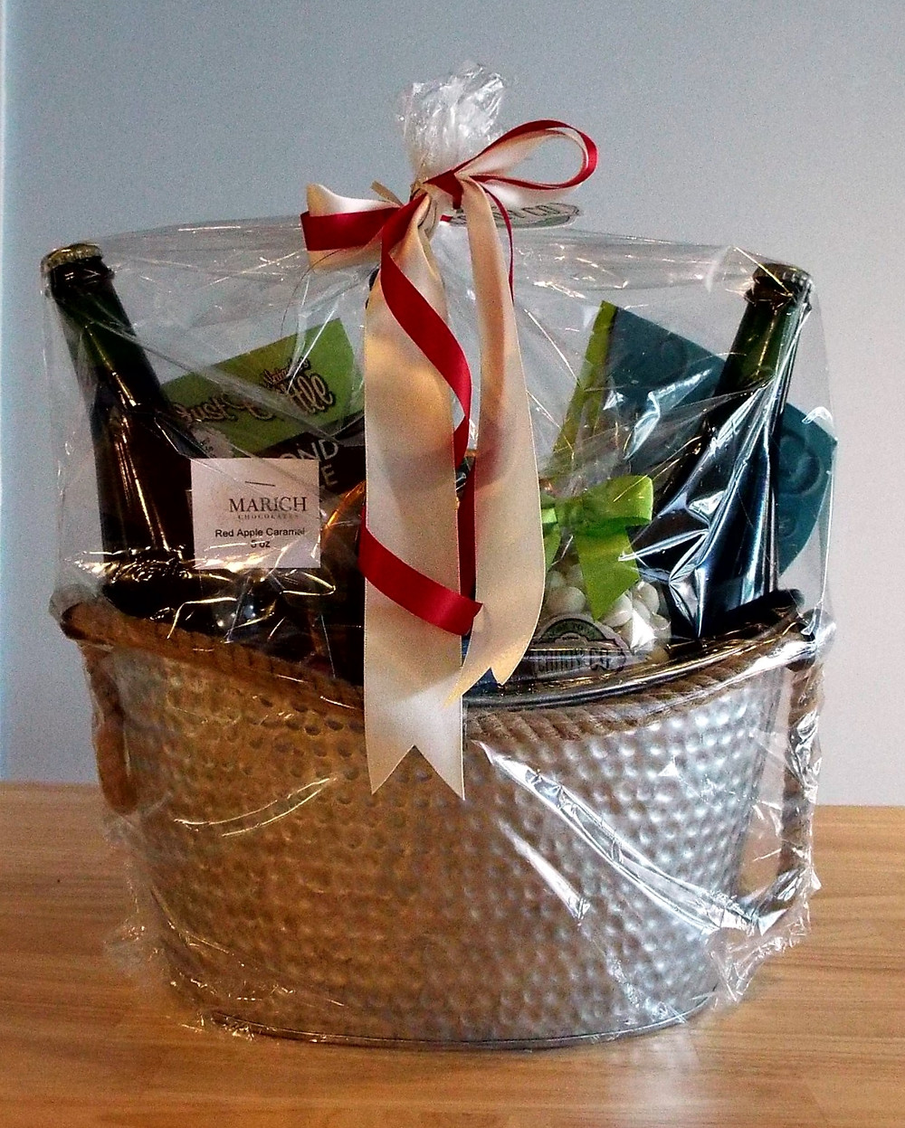 Holiday Gift Basket from Great Shoals Cellars and Olde Town Candy Co St. Michaels, MD
