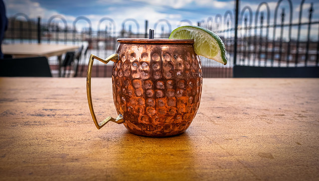 Ginger Hard Apple Cider has less carbonation than ginger beer. This makes a smoother Moscow Mule
