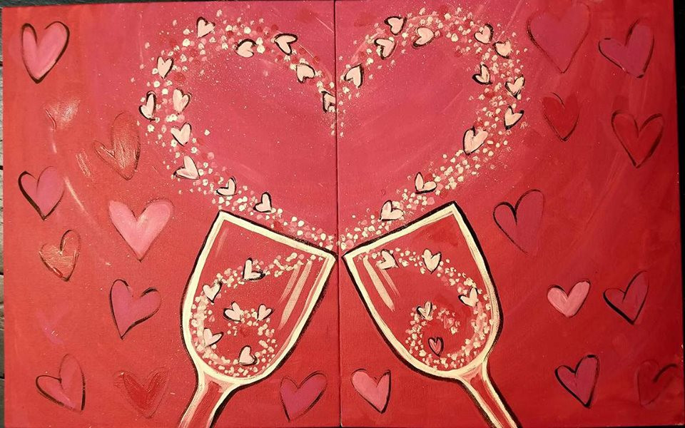 Valentine Paint Party for Two