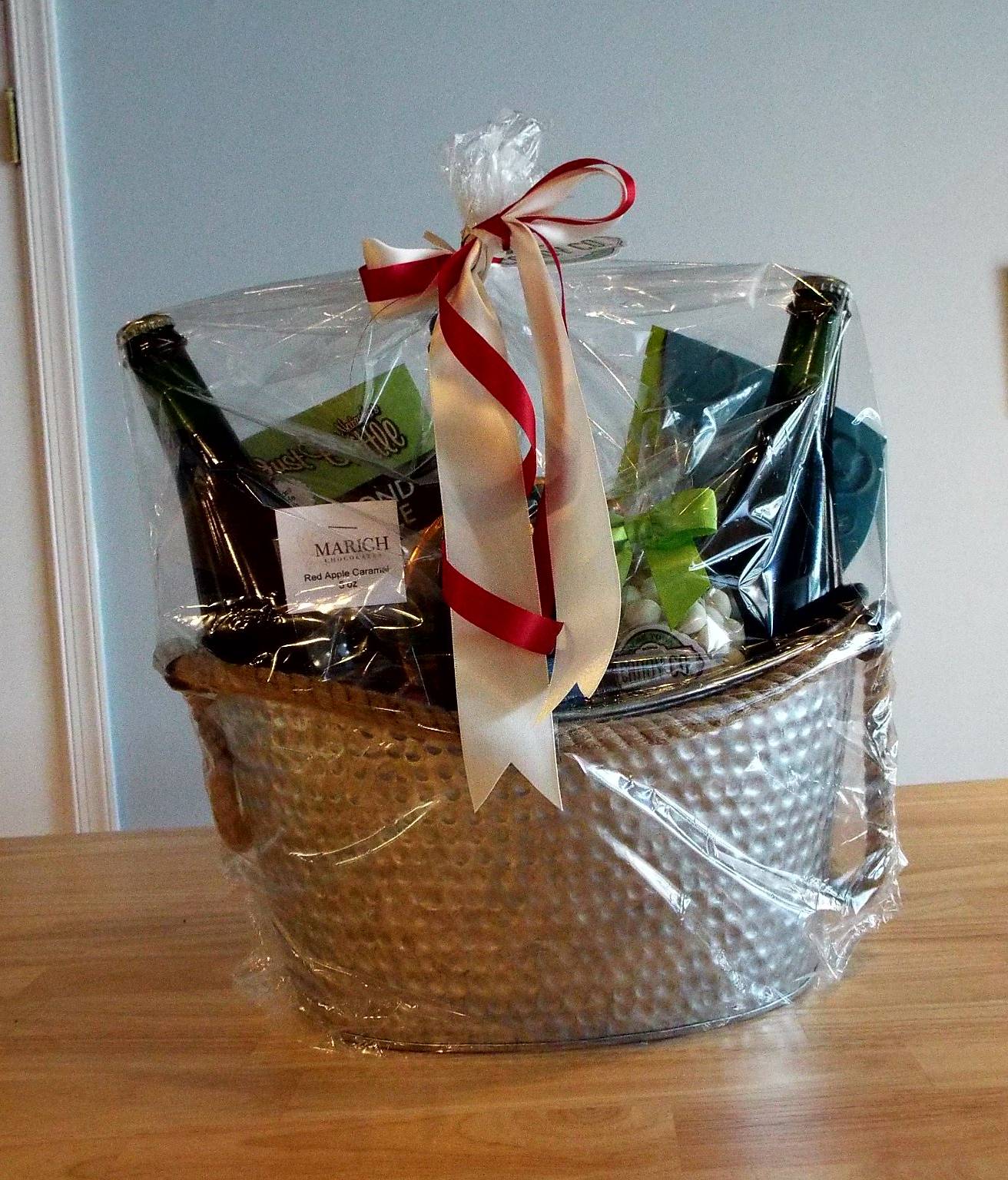 Candy and Wine Gift Basket