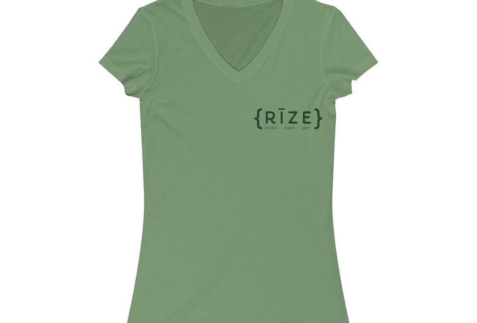 RIZE Women's Jersey Short Sleeve V-Neck Tee (Sizes Run SMALL!)