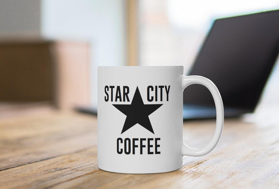 Star City White Ceramic Mug 11 oz or 15 oz