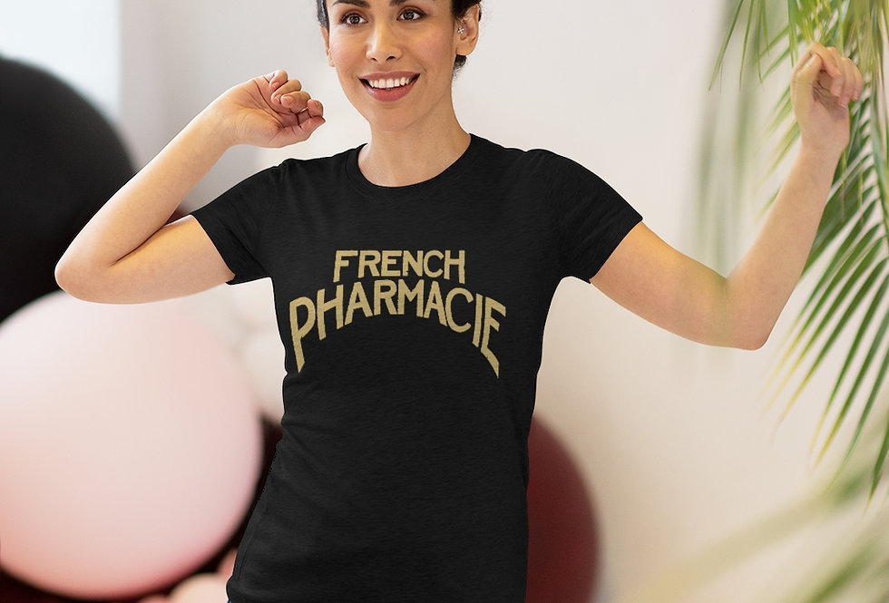 French Pharmacie Sign Women's Triblend Tee (Sizes Run SMALL!)