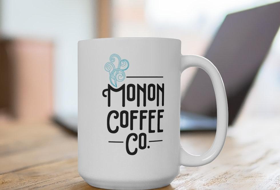 Monon Coffee Co. White Ceramic Mug 11 oz or 15 oz