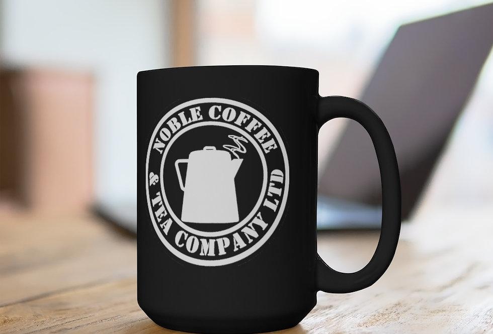 Noble Coffee & Tea Black Mug, 15oz