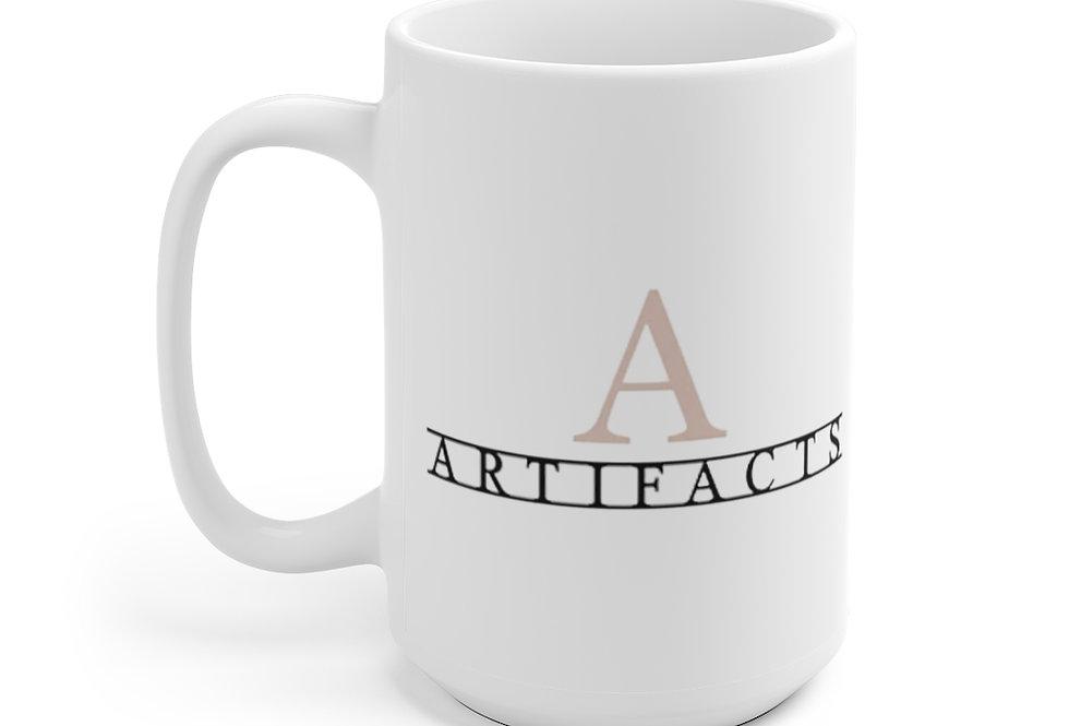 Artifacts Story White Ceramic Mug, 11 oz. & 15 oz.