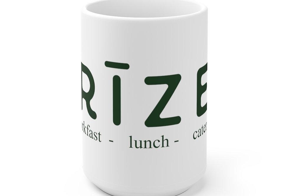 RIZE Logo White Ceramic Mug 11 oz. or 15 oz. size