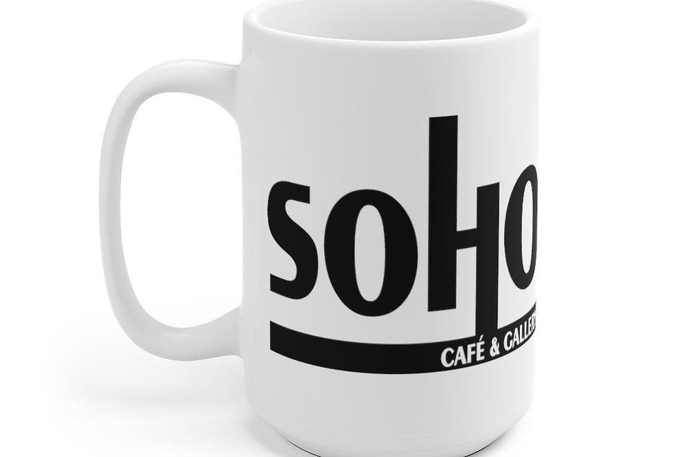 SoHo White Ceramic Mug 11 oz or 15 oz