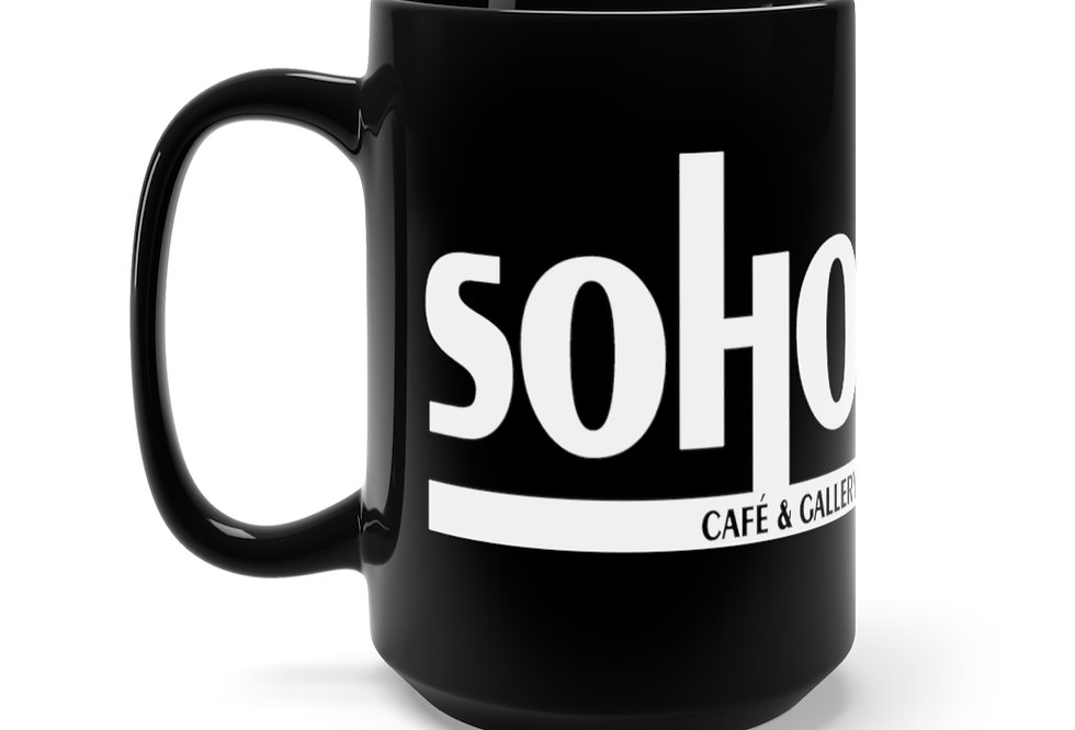 SoHo Story Black Mug, 15oz