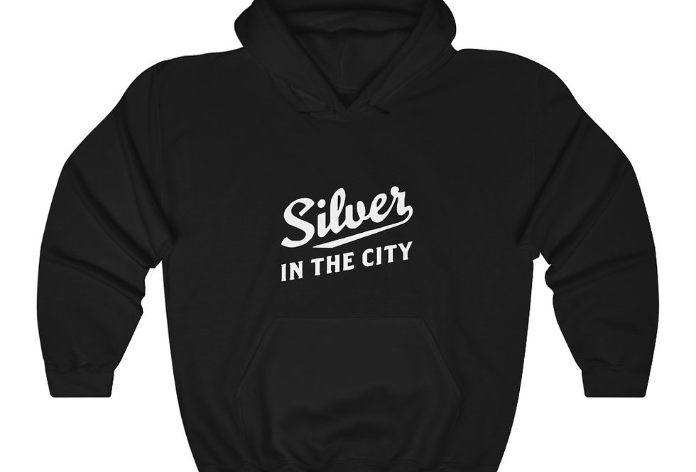 Silver in the City Heavy Blend™ Hooded Sweatshirt (Check size chart!)