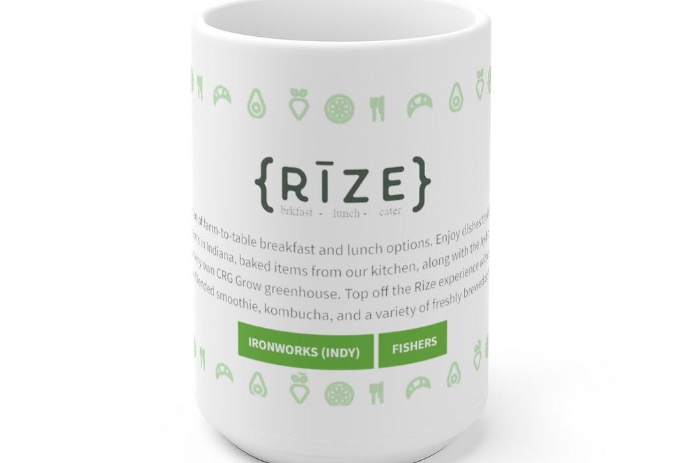 RIZE Web White Ceramic Mug 11 oz. or 15 oz. size