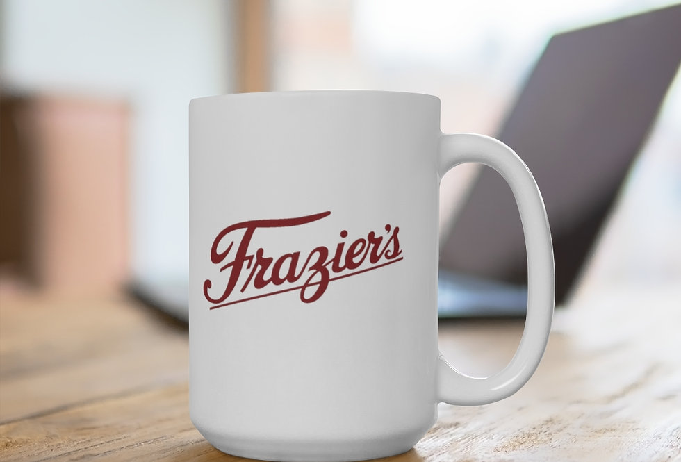 Frazier's Dairy White Ceramic Mug 11 oz. or 15 oz. size