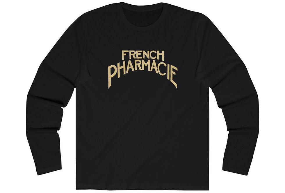 French Pharmacie Sign Long Sleeve Crew Tee