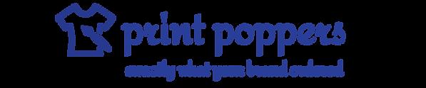 print popper blue logo with paint brush