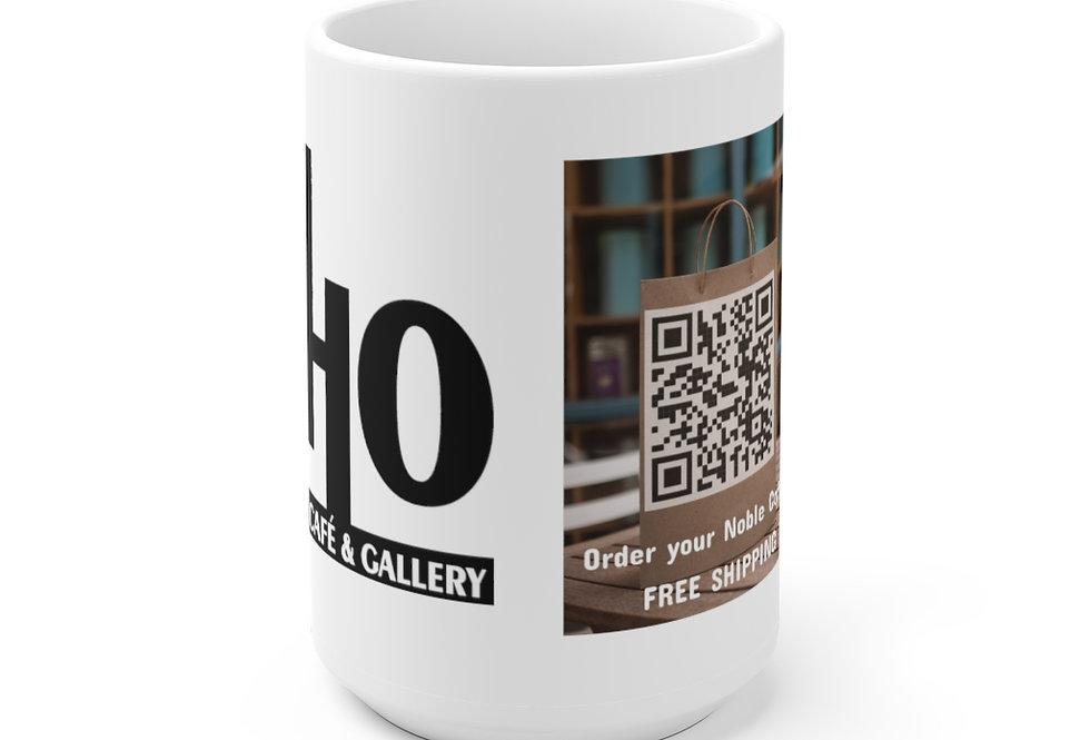 Noble Coffee & Tea QR Code White Ceramic Mug