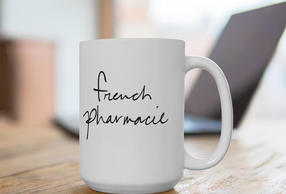 French Pharmacie White Ceramic Mug 11 oz or 15 oz