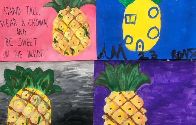 """Be Like A Pineapple"" Paintings"