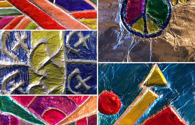 String and Tinfoil Collage