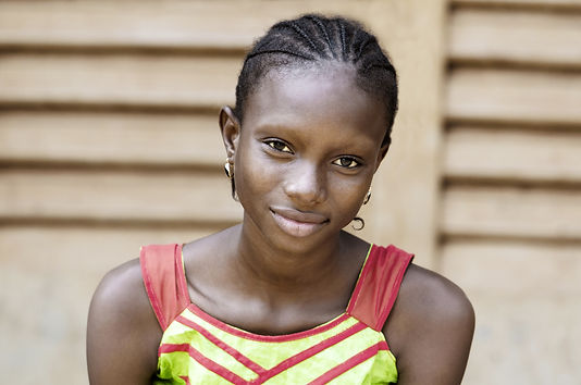 Gorgeous African School Girl Portrait. B