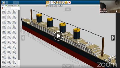 Lego build of the Titanic