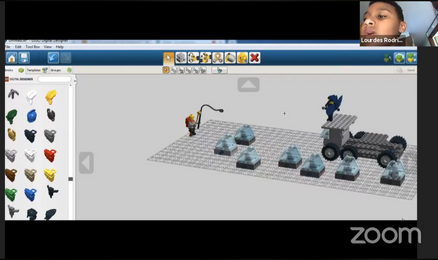 Lego build based on a student's video game idea