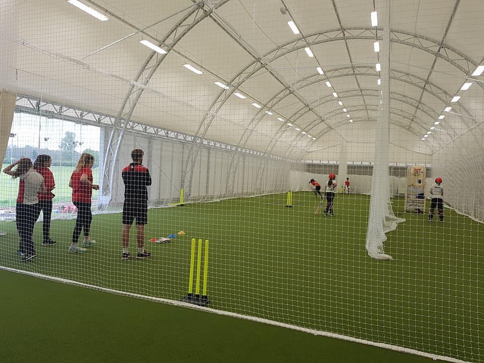 2017年新建成的室內板球訓練中心,設有先進發球機