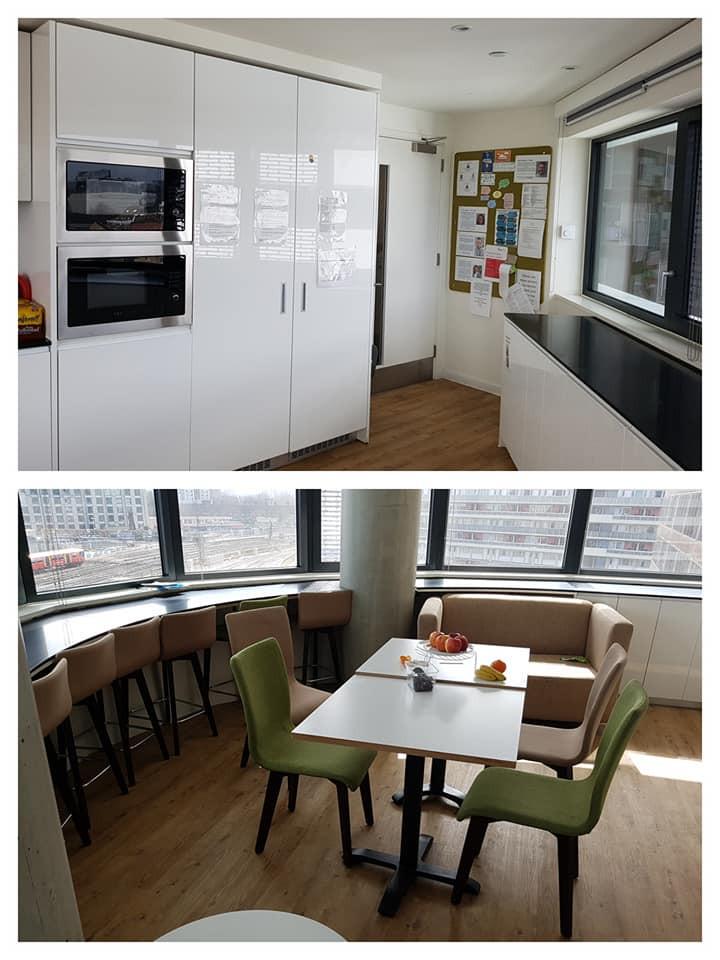 宿舍每層均有寬大開陽的厨房