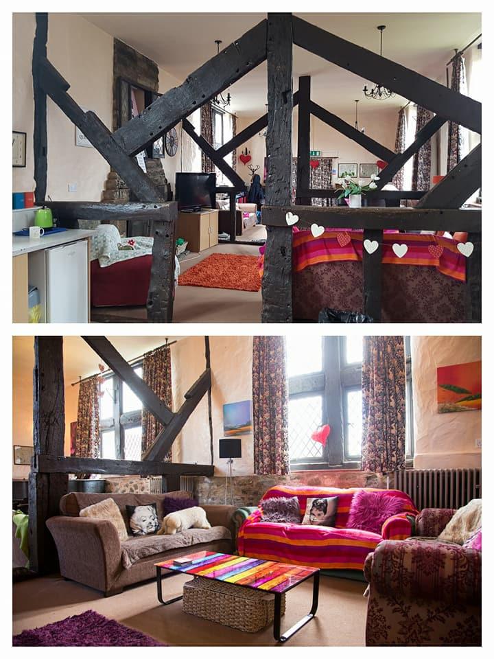 英式古雅的學生宿舍休息室