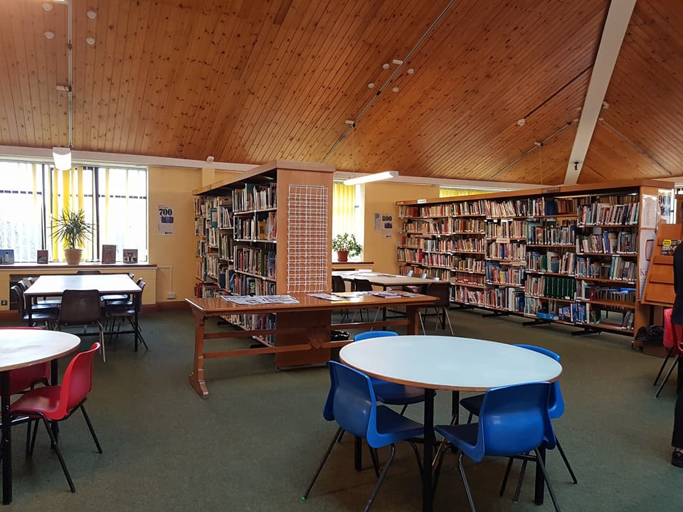 圖書館一角