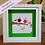 Thumbnail: Button Birds with child on Green backing