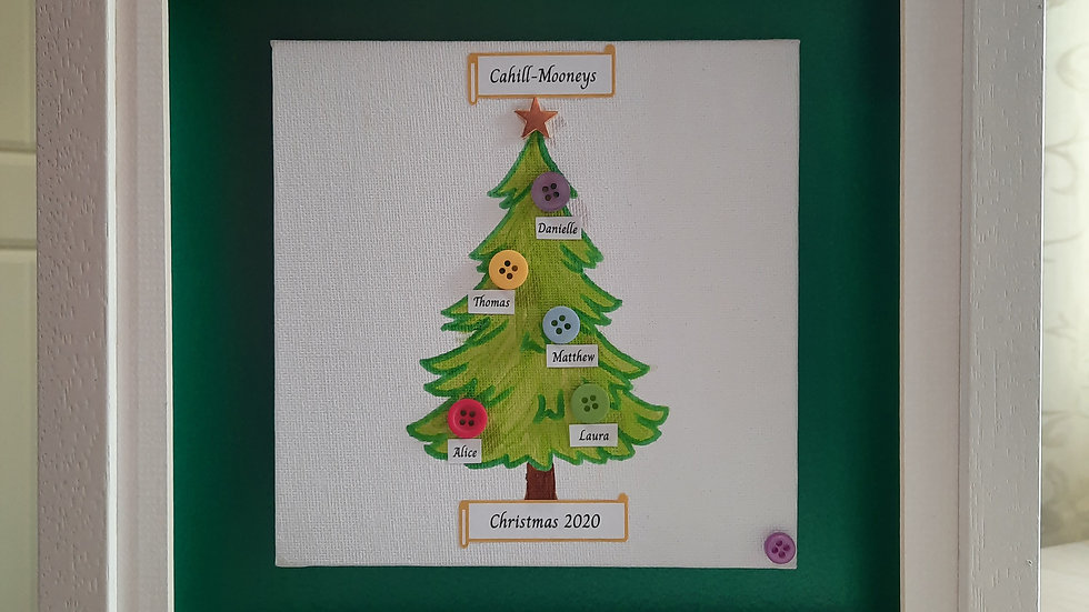 Christmas Button Family Tree