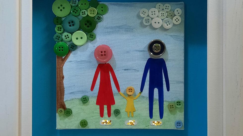 Button Family Portrait - Small