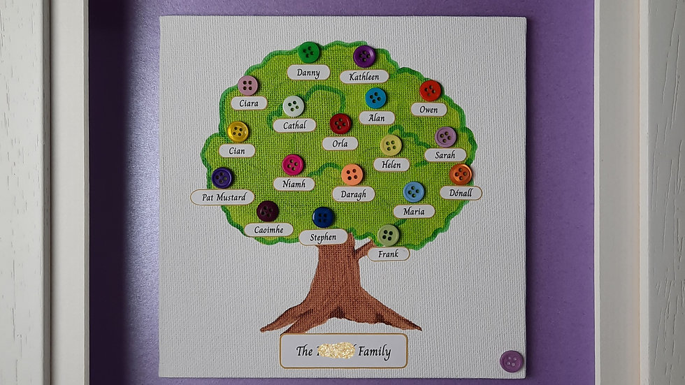 Button Family Tree for between 10 and 20 people