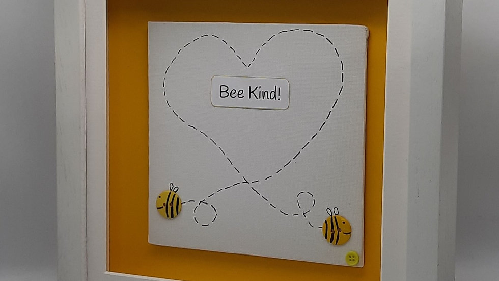 Bee Heart with message