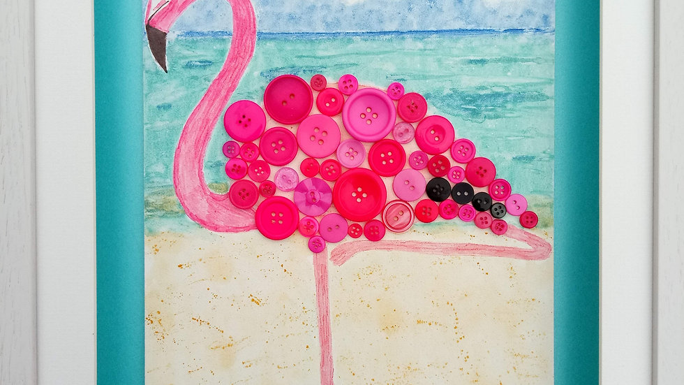 Flamingo by the sea