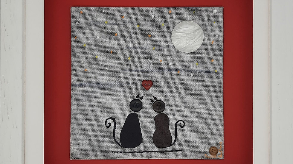 Love you to the moon and back - cats