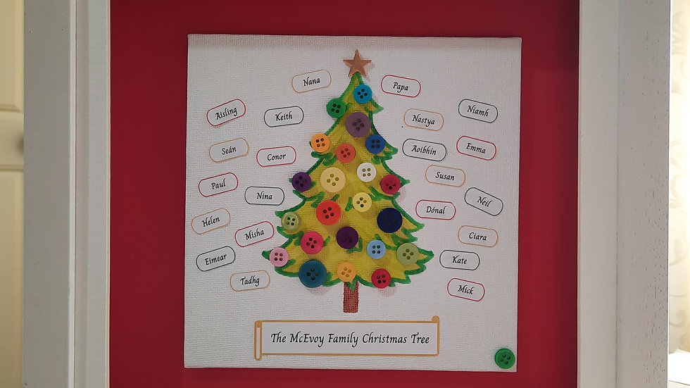 Button Family Christmas tree for larger family