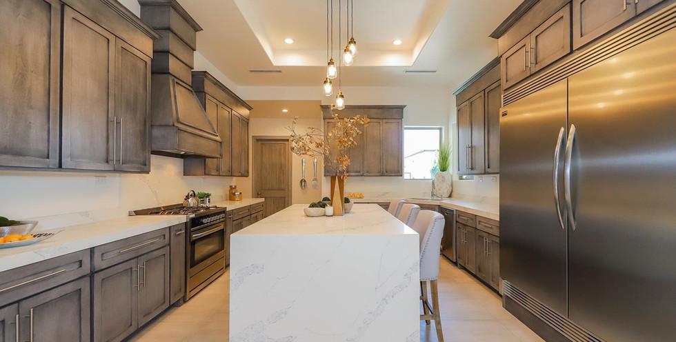 glazed wood cabinets