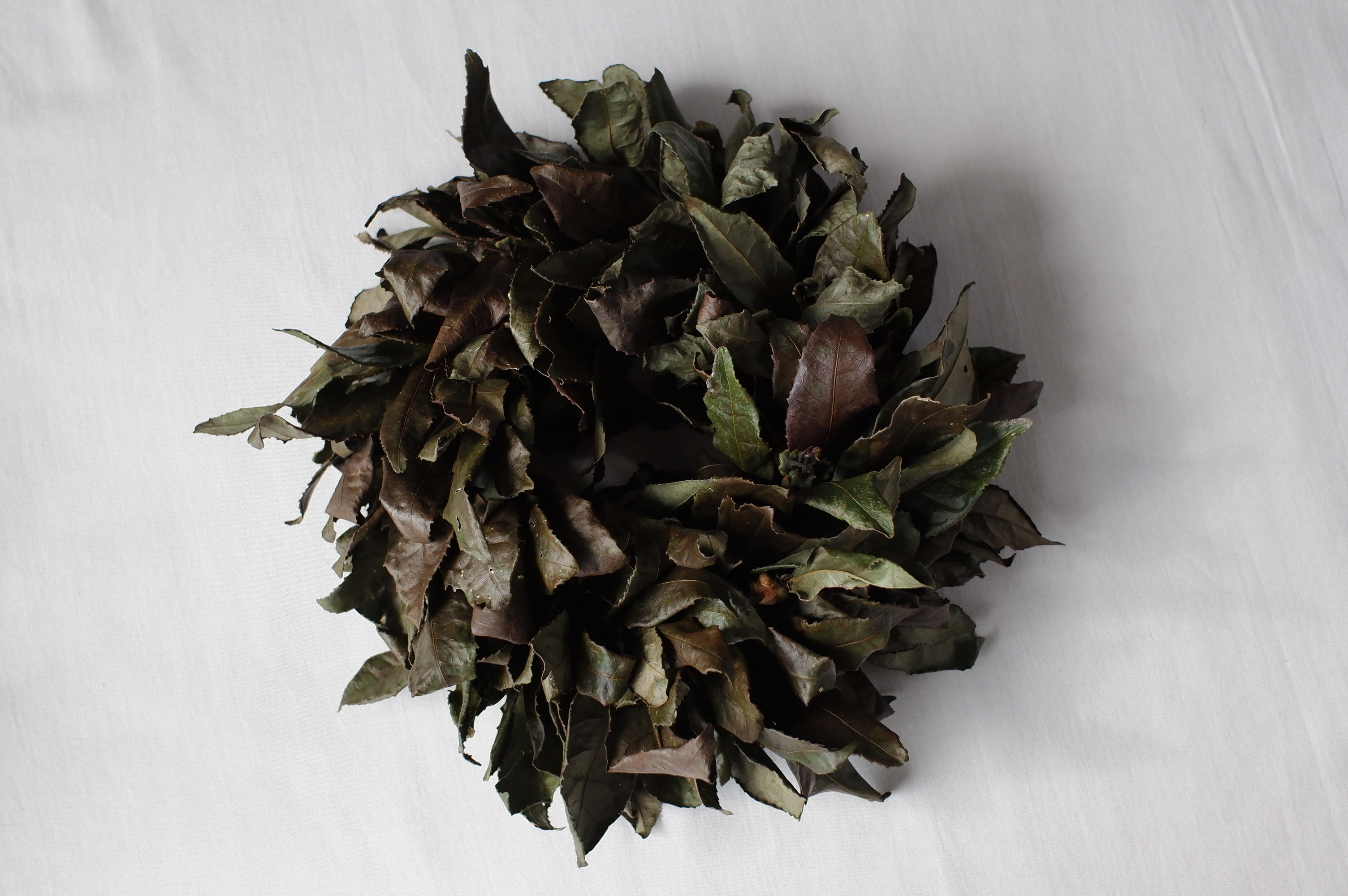 お茶の葉リース 大(s-0016)