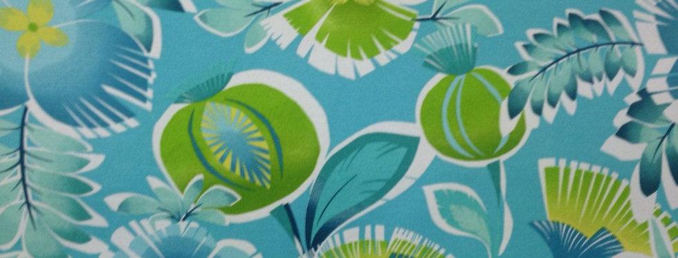 Calypso Turquoise Outdoor Fabric