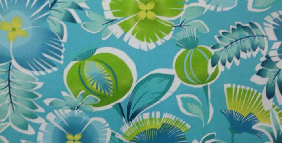 Calypso Turquoise Outdoor Fabric