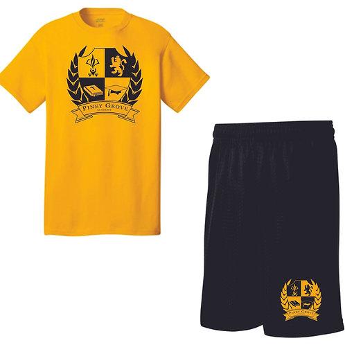 PE unform shirt and pants