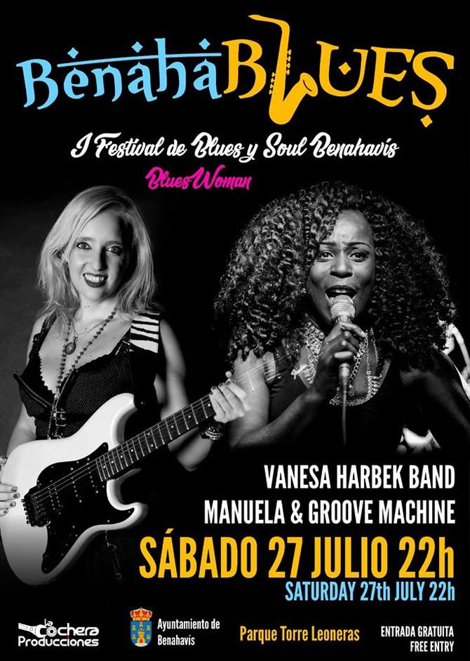 Vanesa Harbek en Malaga - Festival Blues