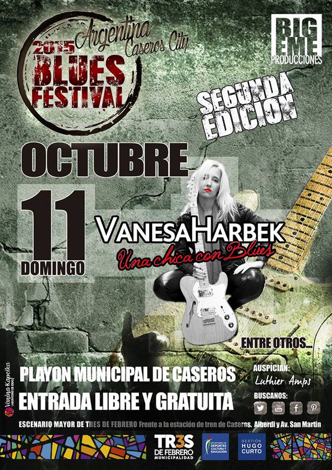 Vanesa Harbek en Argentina Blues Fest