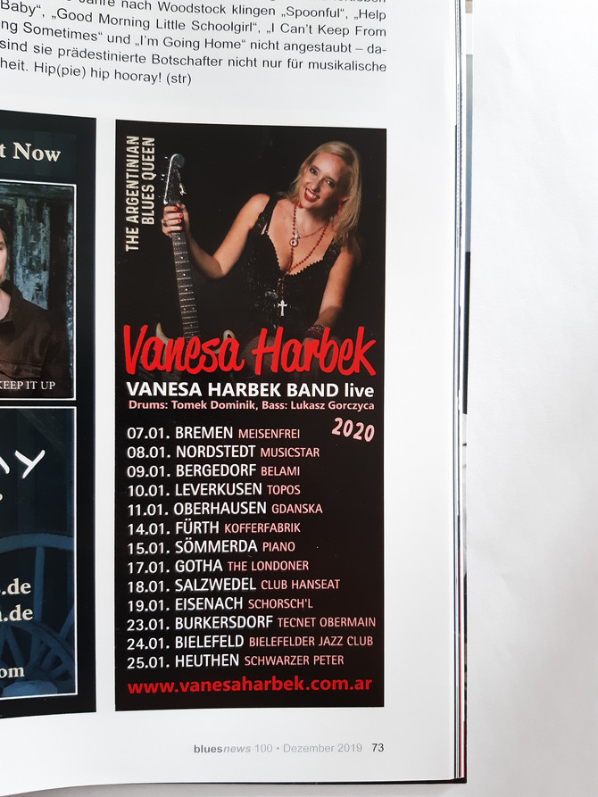 Vanesa Harbek - German Tour 2020