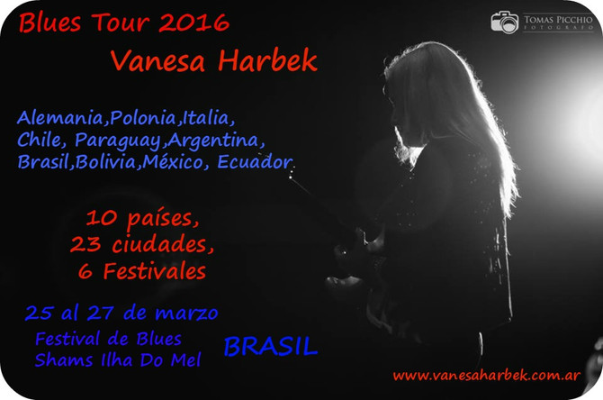 Vanesa Harbek Blues Tour 2016